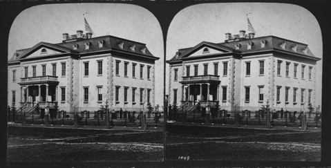 Circa 1870 - this is the first known photograph of the Naval Hospital, Washington City  (Now known as the Old Naval Hospital)