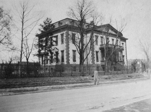 Undated photograph of the Southwest corner of the Old Naval Hospital