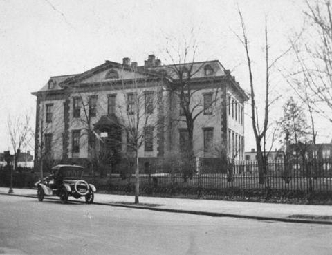 Undated photograph of the Northwest corner of the Old Naval Hospital