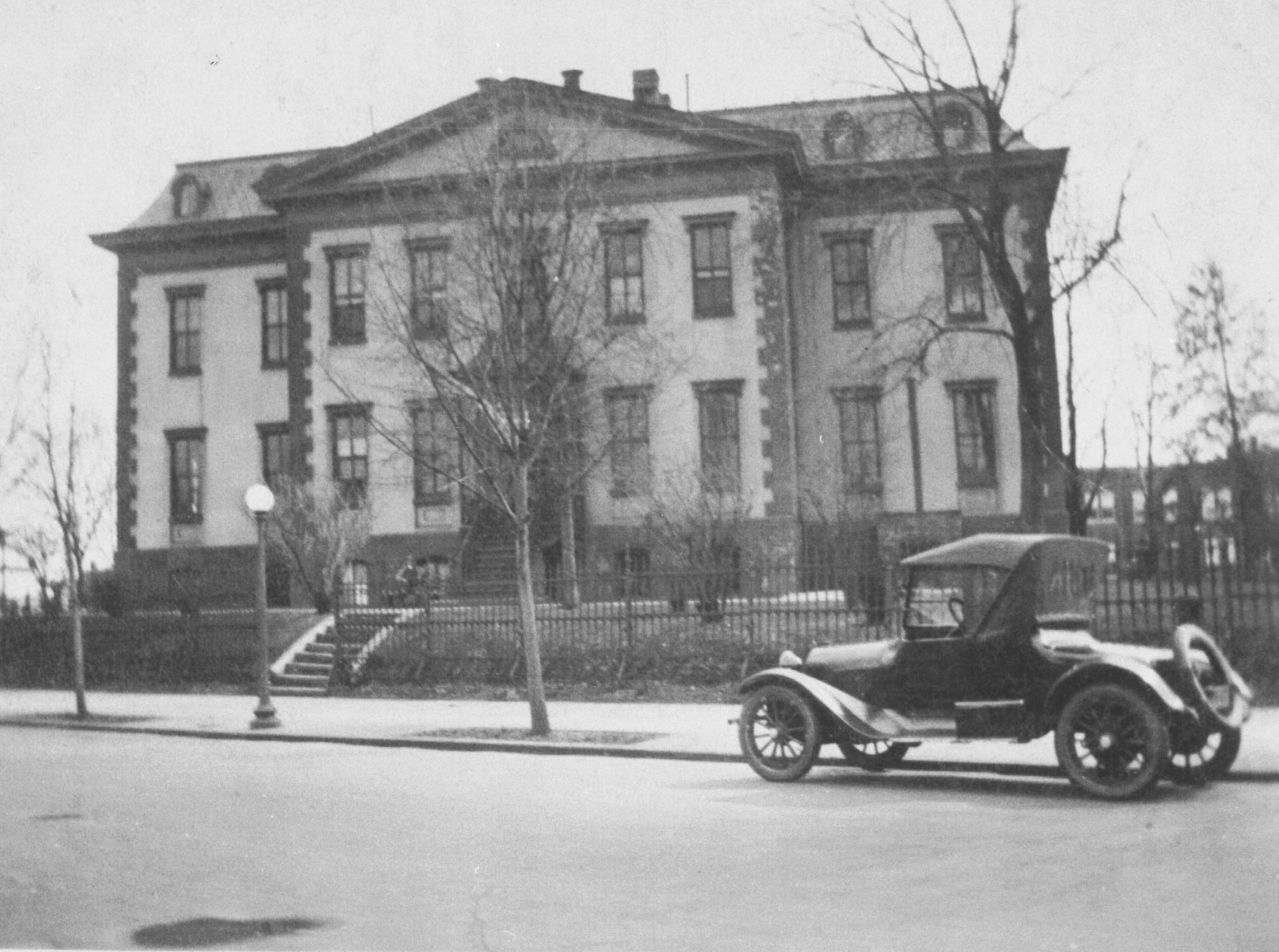Undated photograph of the of the Old Naval Hospital from the North