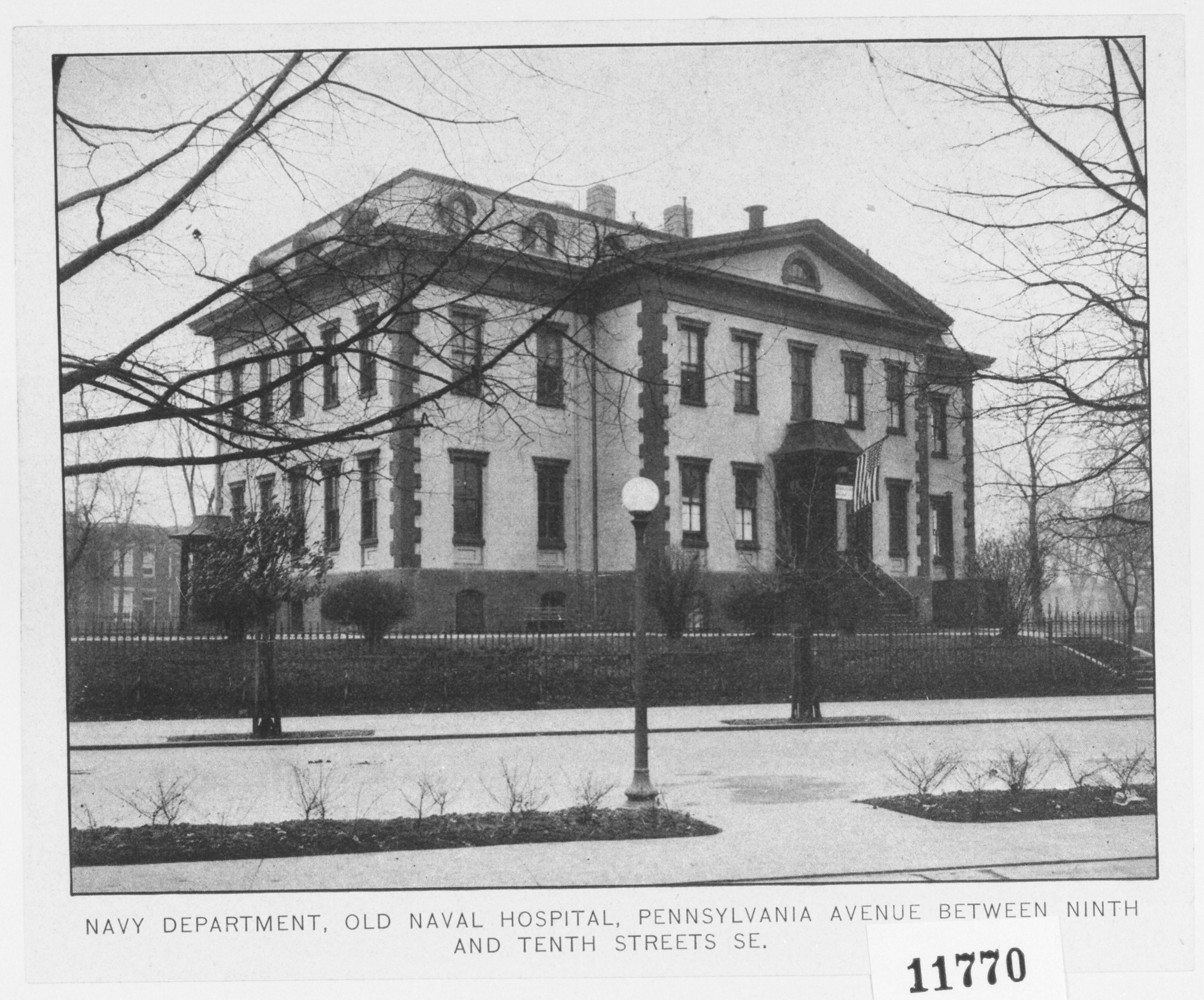 Undated photograph of the of the Old Naval Hospital from the Northeast