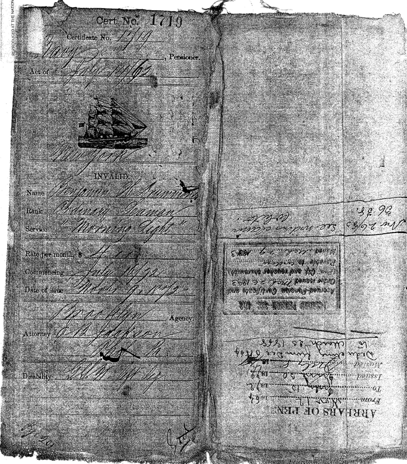 Invalid Certificate 1719. This is a digital copy of the original record held by the National Archives.
