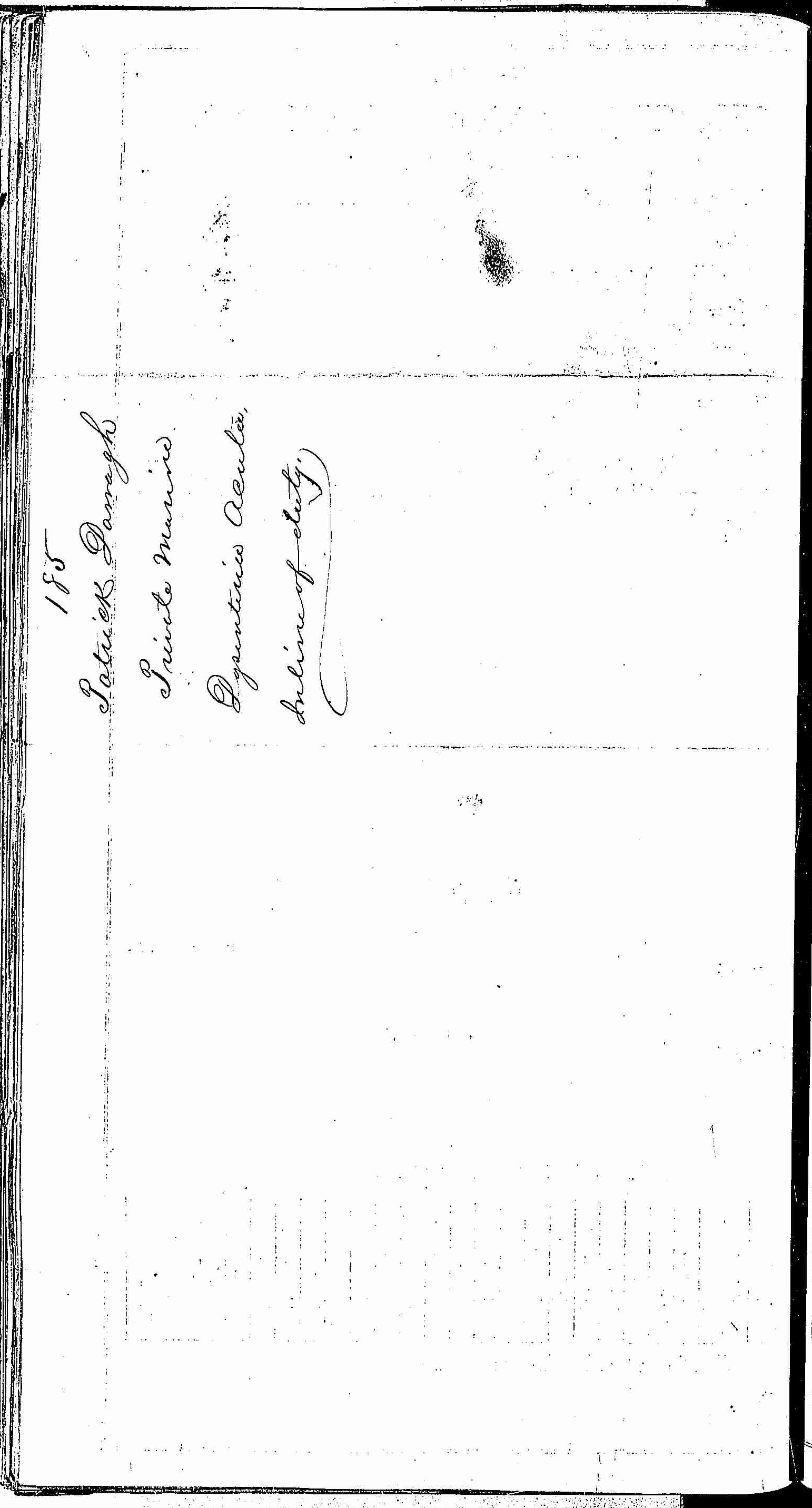 Entry for Patrick Darragh (page 2 of 2) in the log Hospital Tickets and Case Papers - Naval Hospital - Washington, D.C. - 1866-68