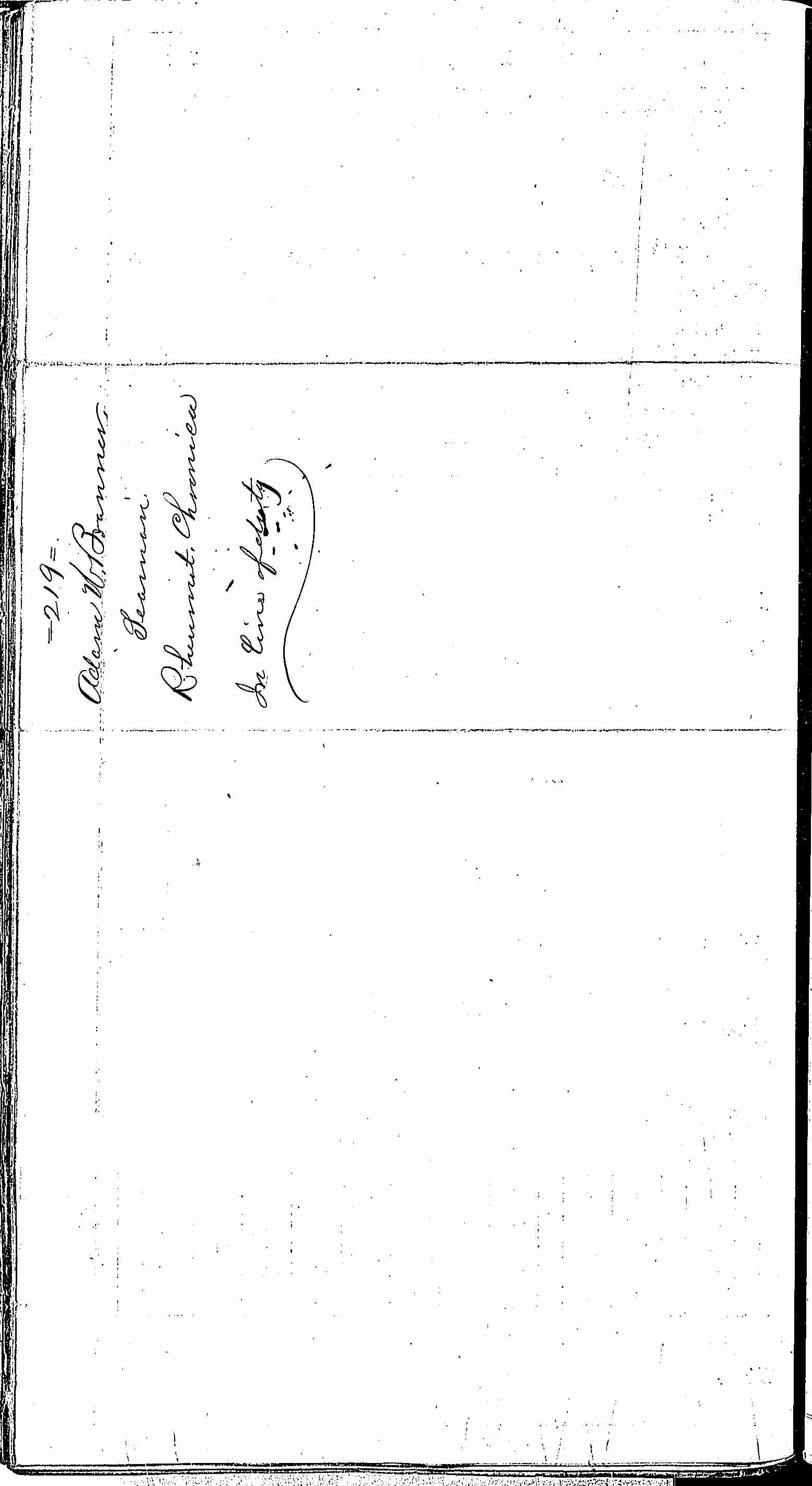 Entry for Adam M. Branner (page 2 of 2) in the log Hospital Tickets and Case Papers - Naval Hospital - Washington, D.C. - 1866-68