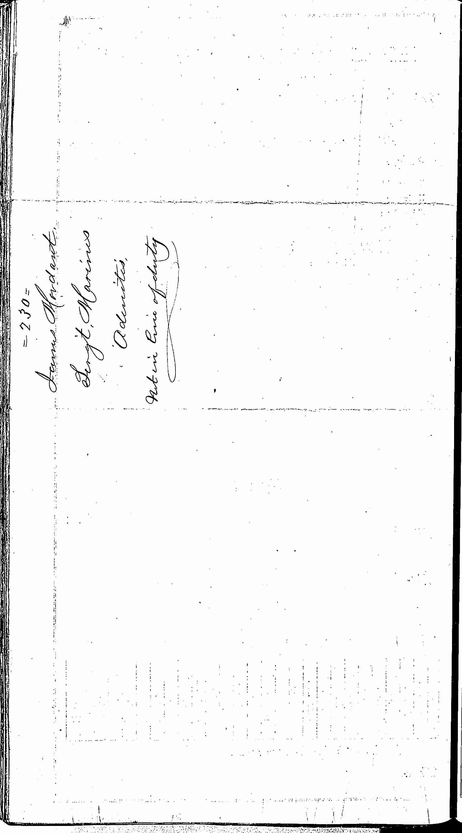 Entry for James Mordaunt (second admission page 2 of 2) in the log Hospital Tickets and Case Papers - Naval Hospital - Washington, D.C. - 1866-68