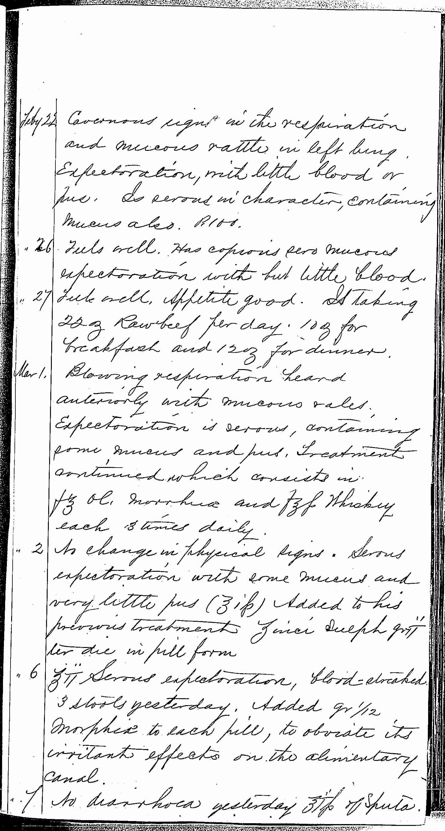 Entry for Bernard Drury (page 25 of 31) in the log Hospital Tickets and Case Papers - Naval Hospital - Washington, D.C. - 1868-69