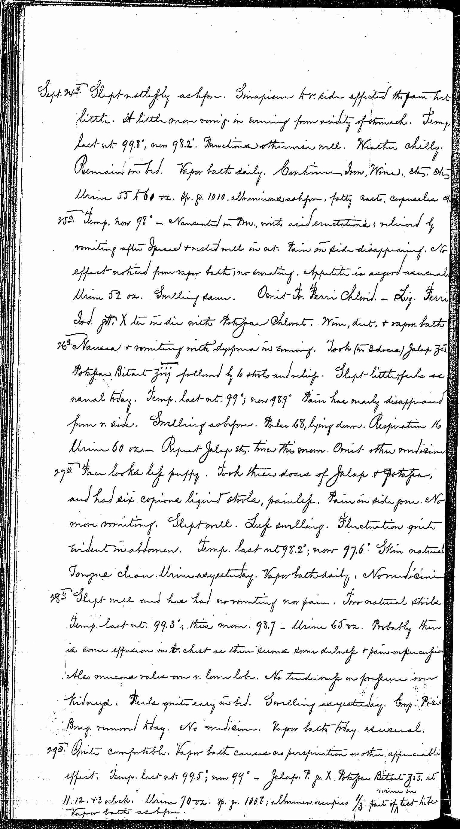 Entry for Bernard Coyne (page 4 of 13) in the log Hospital Tickets and Case Papers - Naval Hospital - Washington, D.C. - 1868-69
