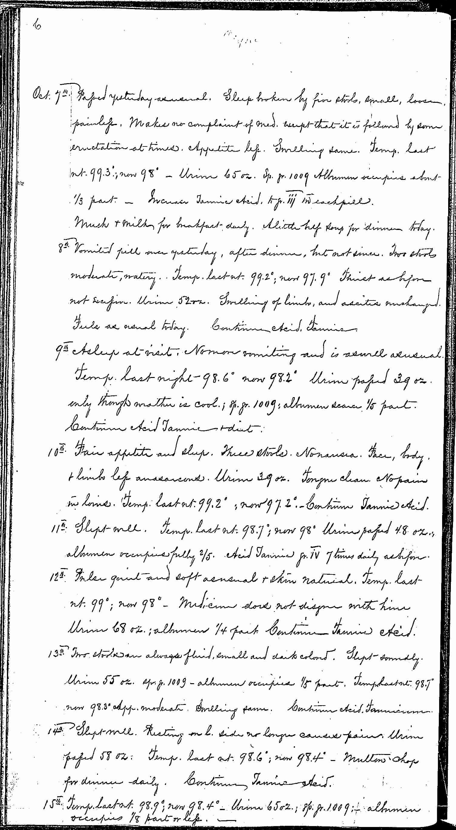 Entry for Bernard Coyne (page 6 of 13) in the log Hospital Tickets and Case Papers - Naval Hospital - Washington, D.C. - 1868-69