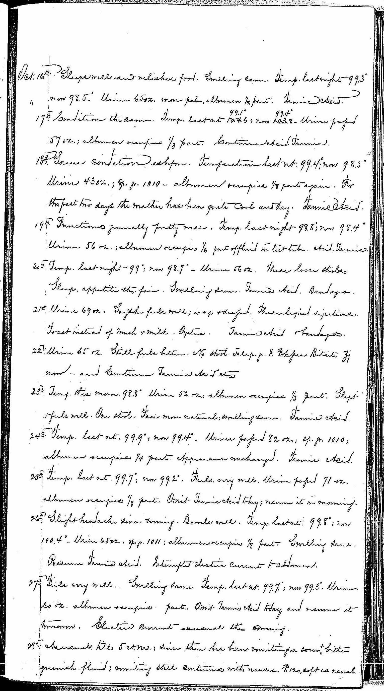 Entry for Bernard Coyne (page 7 of 13) in the log Hospital Tickets and Case Papers - Naval Hospital - Washington, D.C. - 1868-69