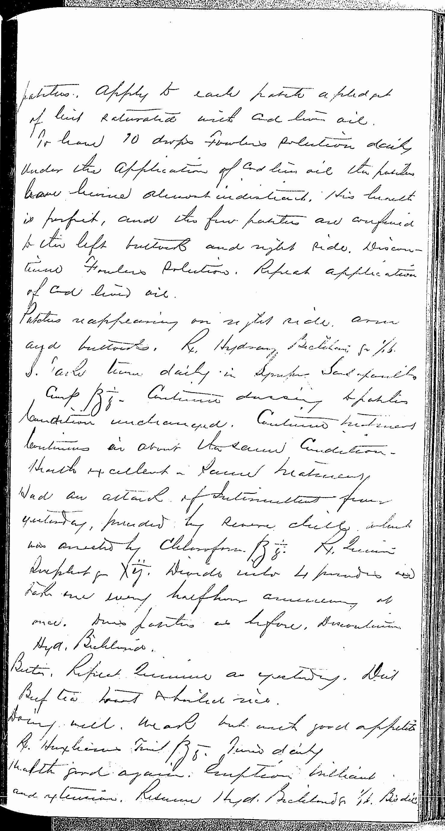 Entry for Edward Davis (page 3 of 6) in the log Hospital Tickets and Case Papers - Naval Hospital - Washington, D.C. - 1868-69