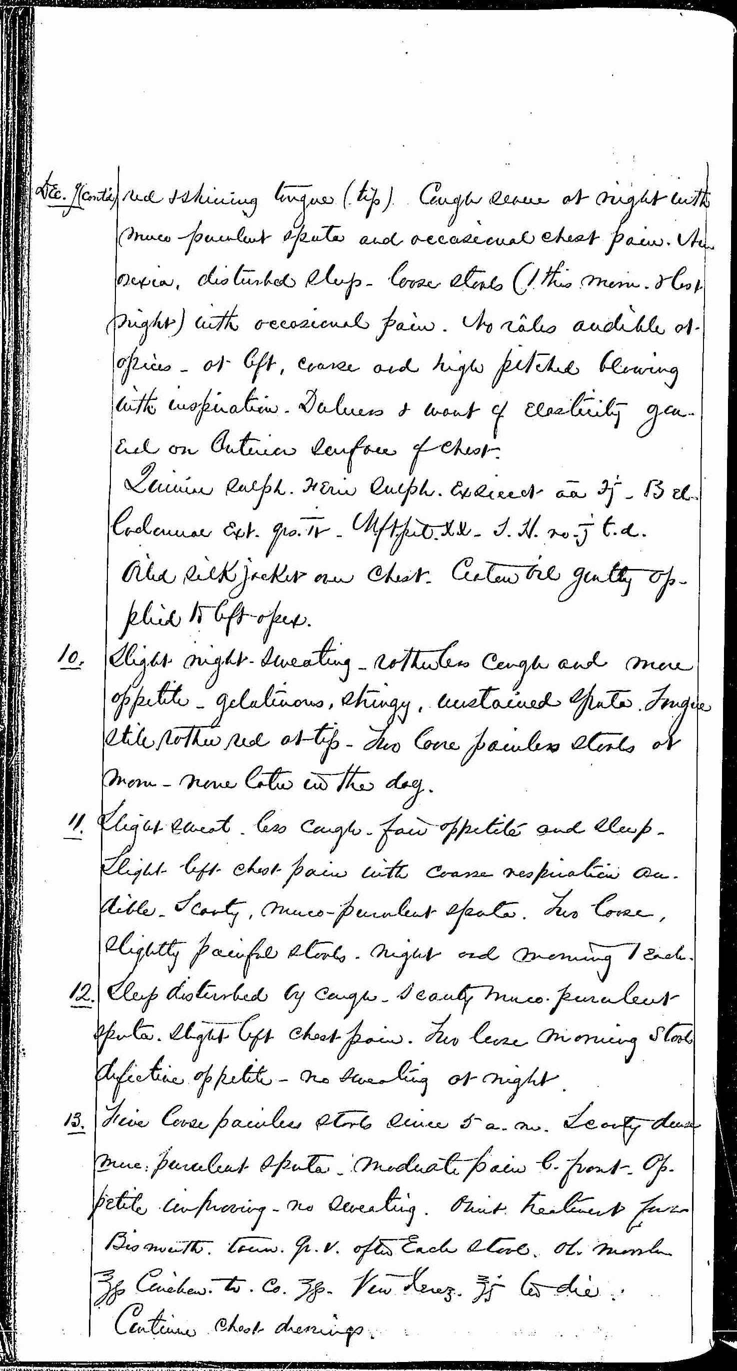 Entry for William Bathwell (page 2 of 13) in the log Hospital Tickets and Case Papers - Naval Hospital - Washington, D.C. - 1868-69