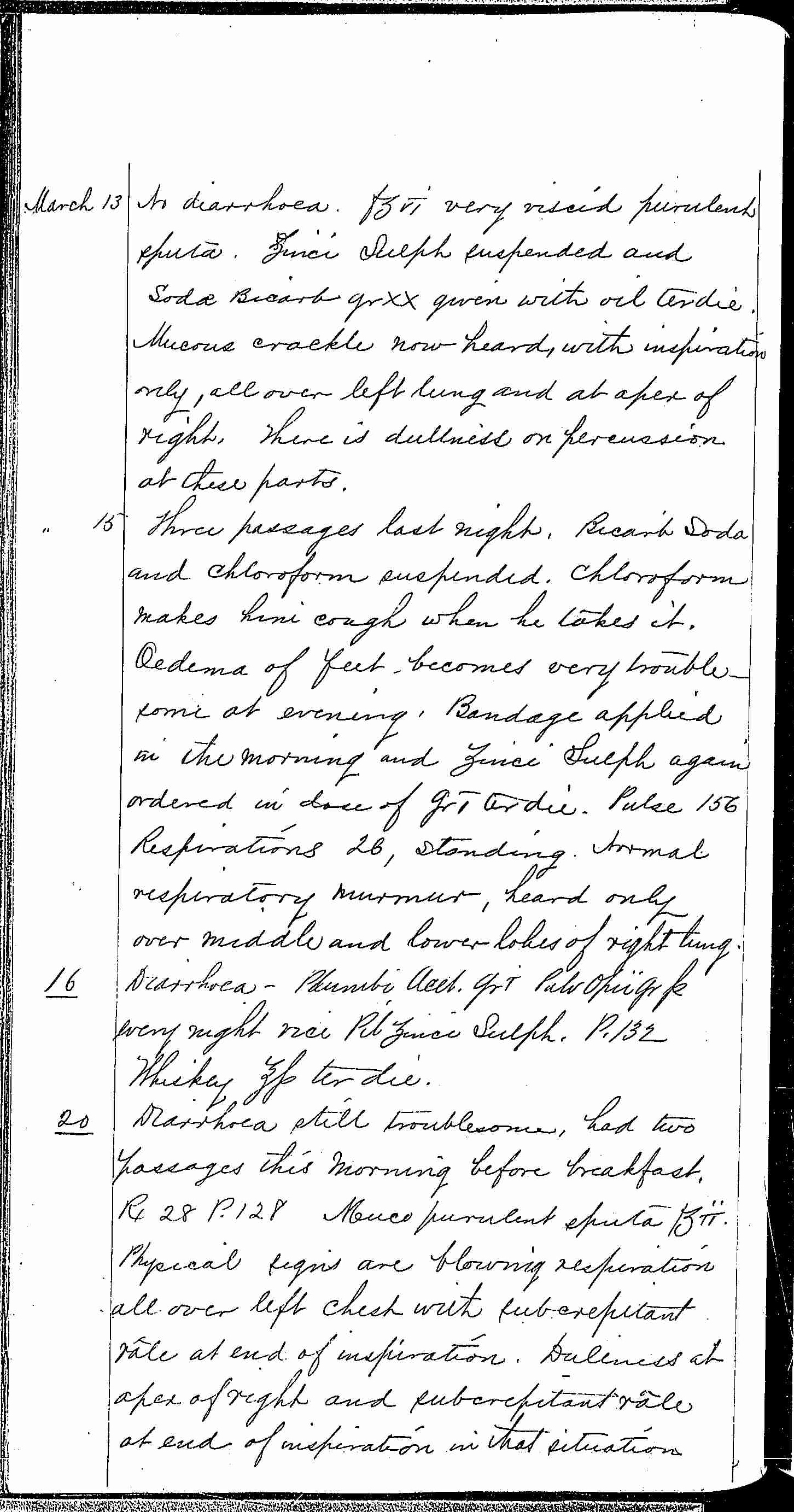 Entry for William Bathwell (page 10 of 13) in the log Hospital Tickets and Case Papers - Naval Hospital - Washington, D.C. - 1868-69