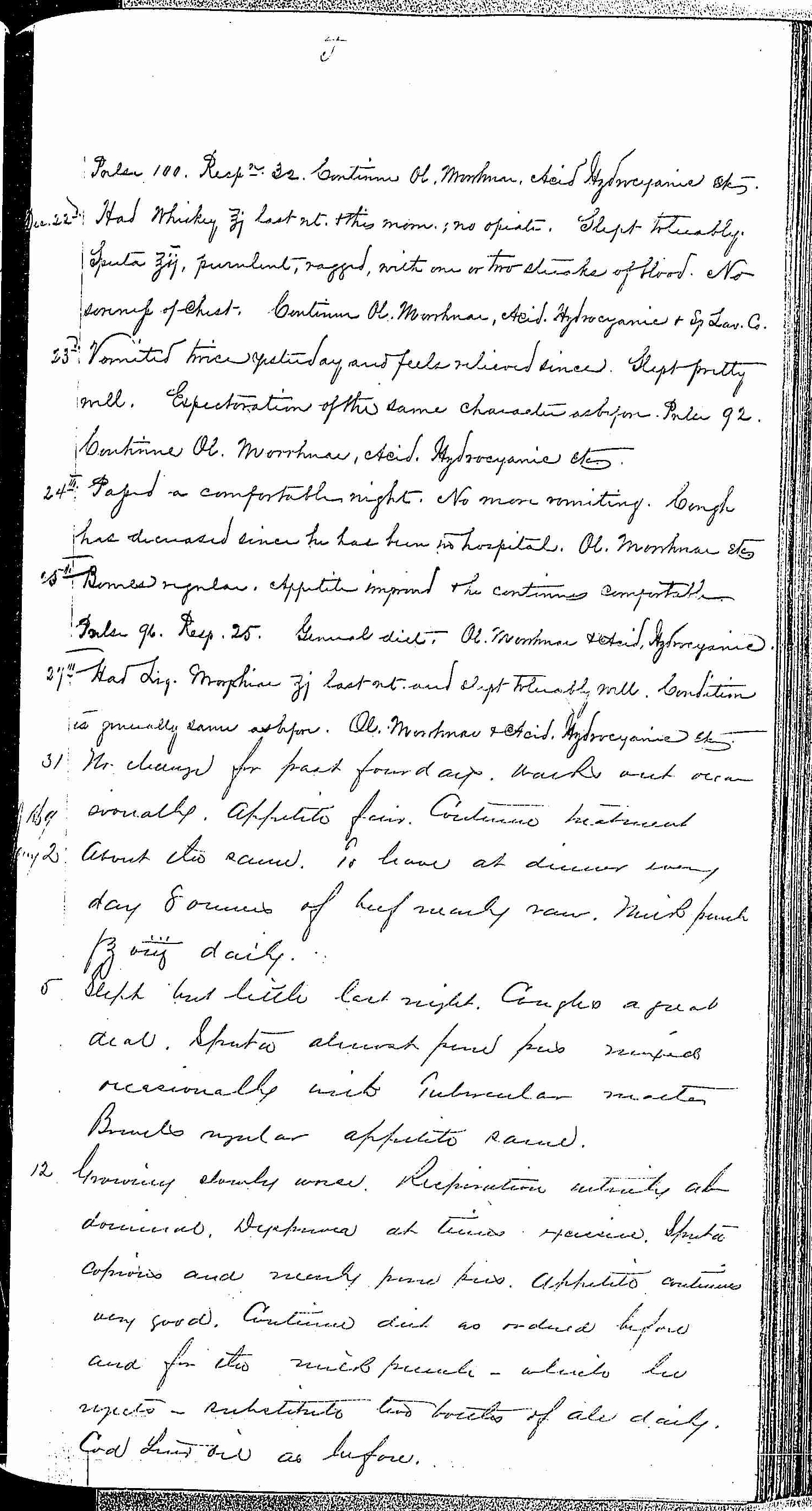 Entry for William Jackson (page 3 of 7) in the log Hospital Tickets and Case Papers - Naval Hospital - Washington, D.C. - 1868-69