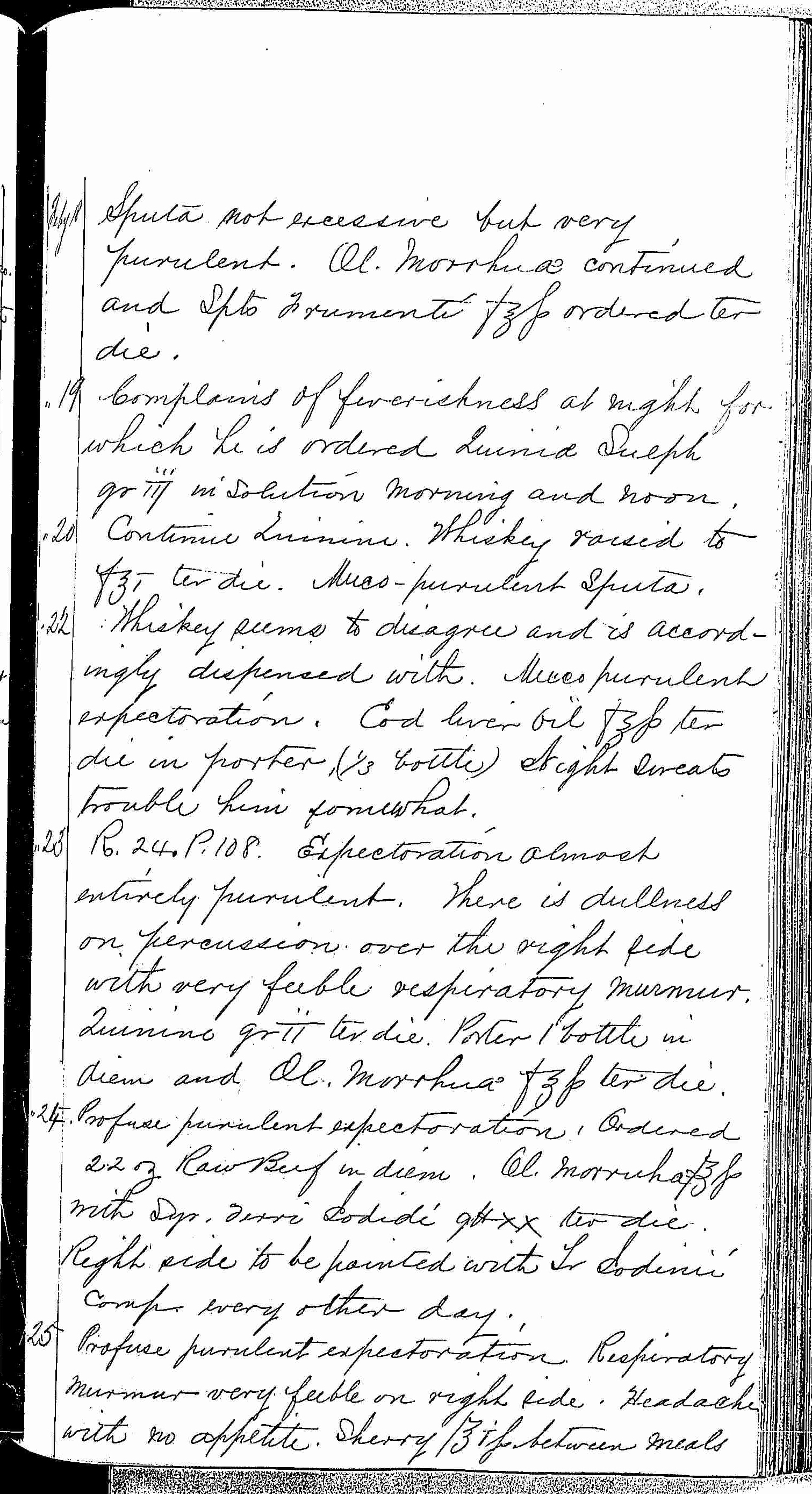 Entry for Peter C. Cheeks (page 7 of 16) in the log Hospital Tickets and Case Papers - Naval Hospital - Washington, D.C. - 1868-69