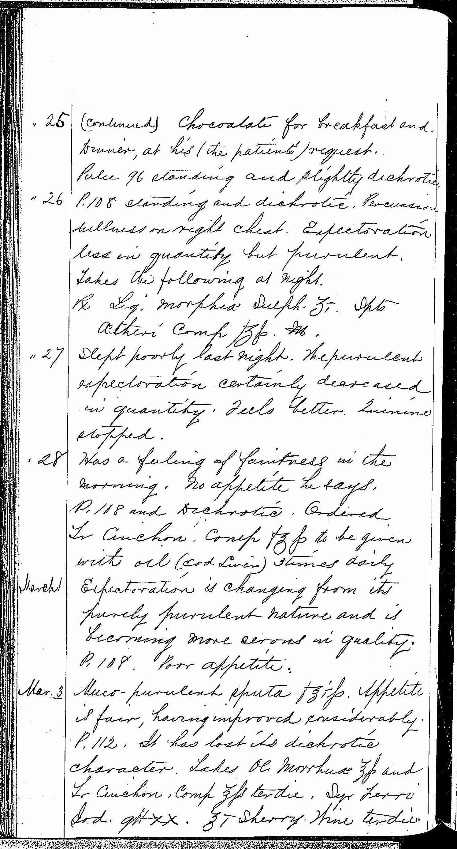 Entry for Peter C. Cheeks (page 8 of 16) in the log Hospital Tickets and Case Papers - Naval Hospital - Washington, D.C. - 1868-69