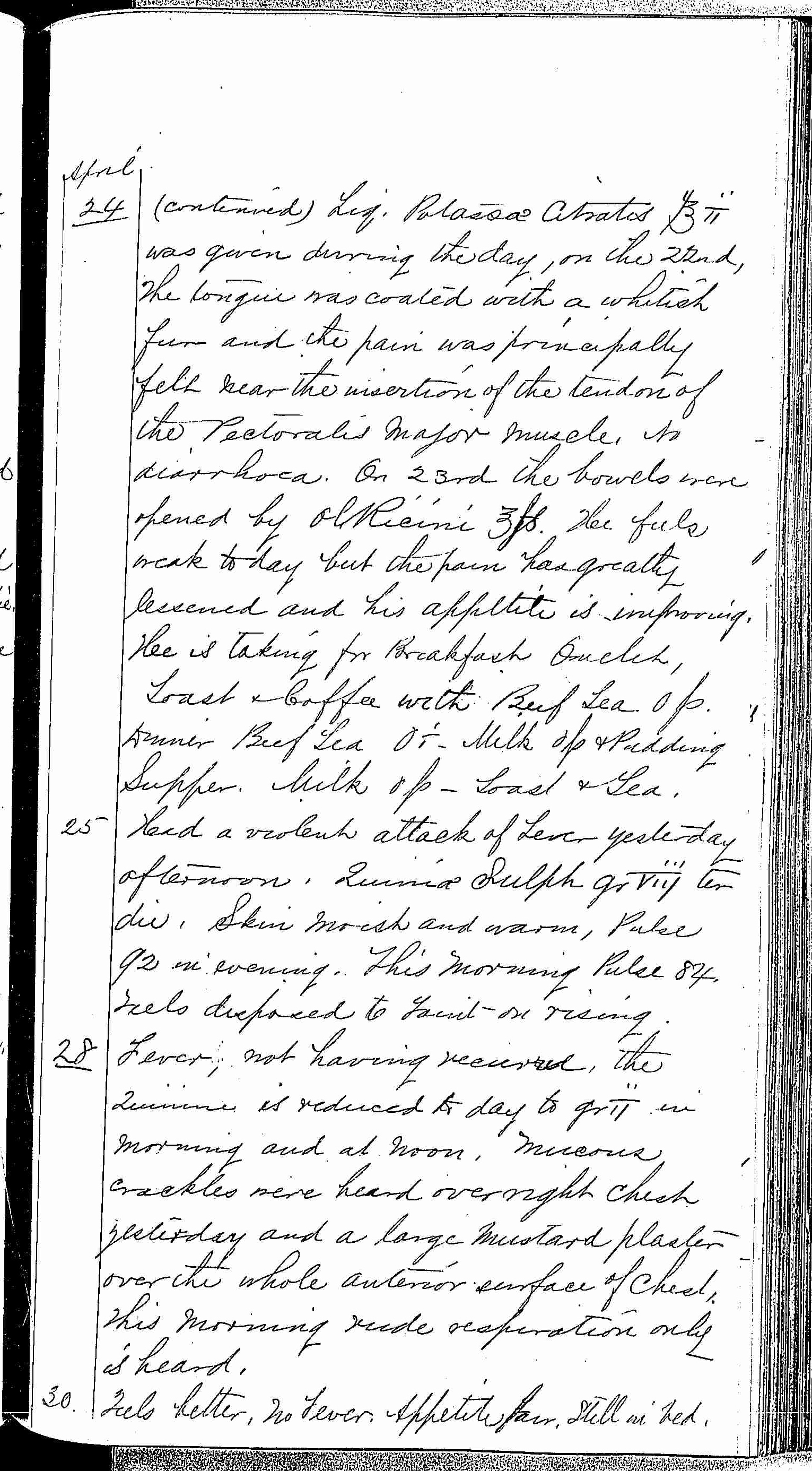 Entry for Peter C. Cheeks (page 13 of 16) in the log Hospital Tickets and Case Papers - Naval Hospital - Washington, D.C. - 1868-69