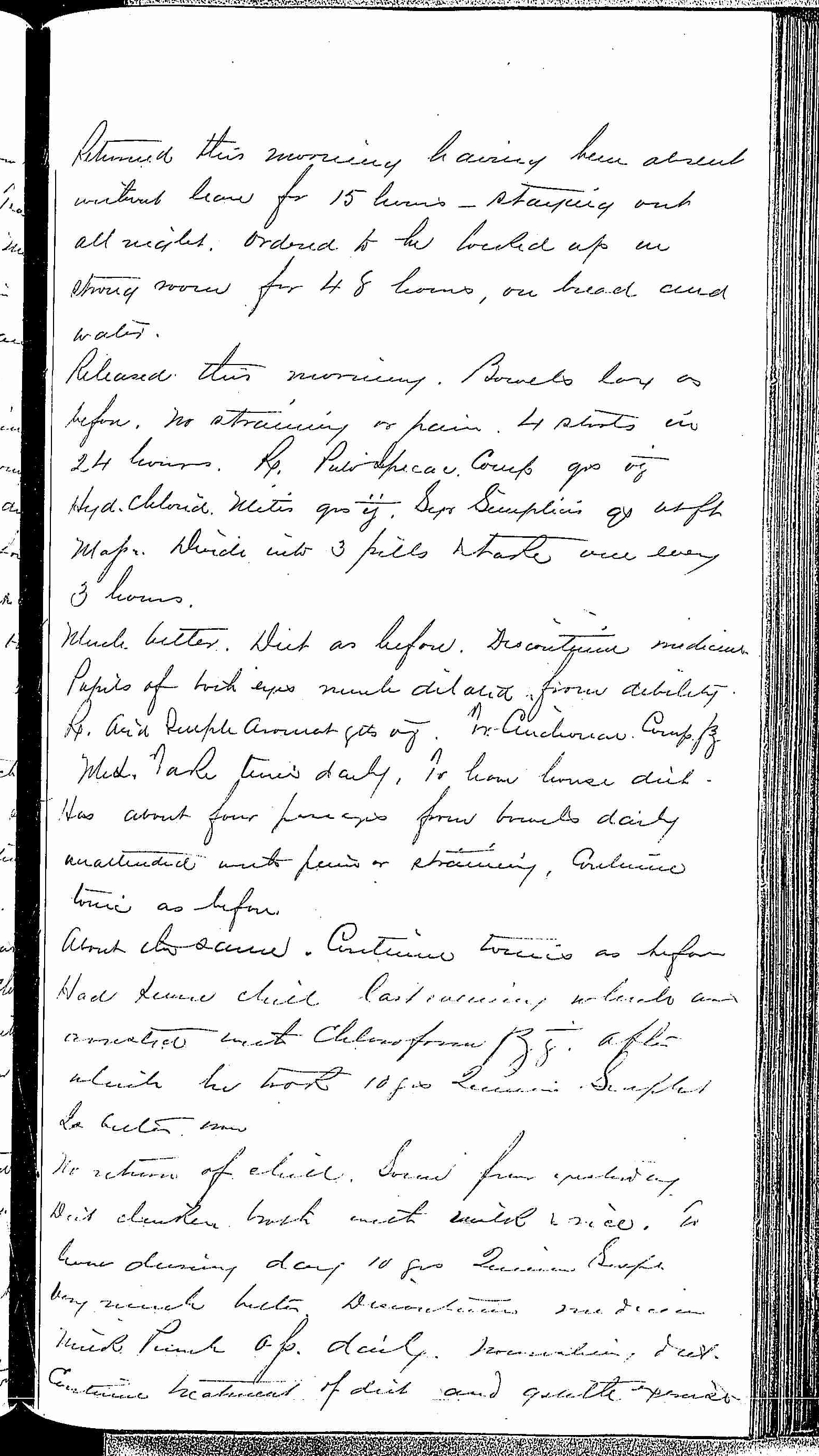 Entry for Edward Stevens (page 3 of 5) in the log Hospital Tickets and Case Papers - Naval Hospital - Washington, D.C. - 1868-69