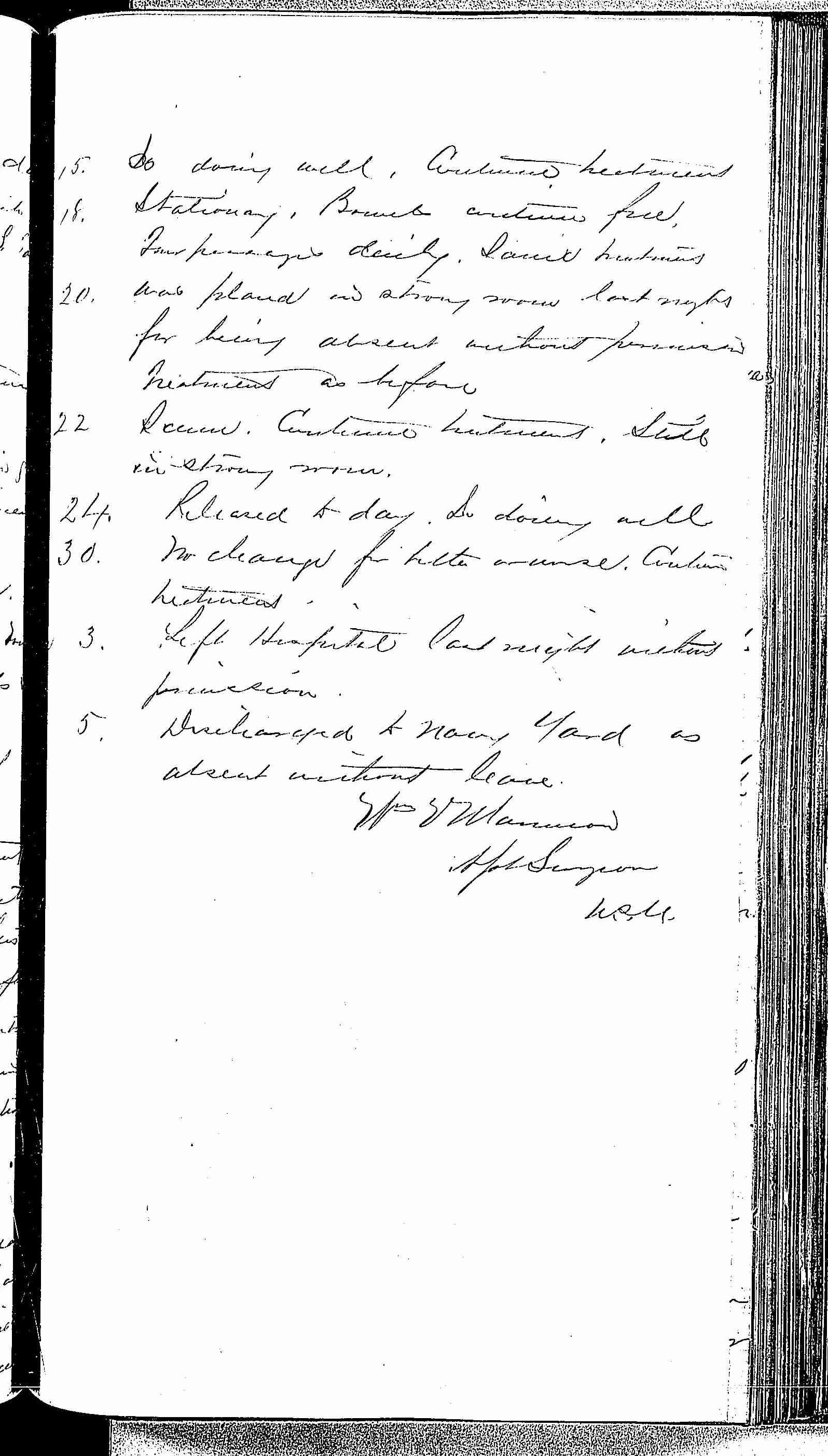 Entry for Edward Stevens (page 5 of 5) in the log Hospital Tickets and Case Papers - Naval Hospital - Washington, D.C. - 1868-69