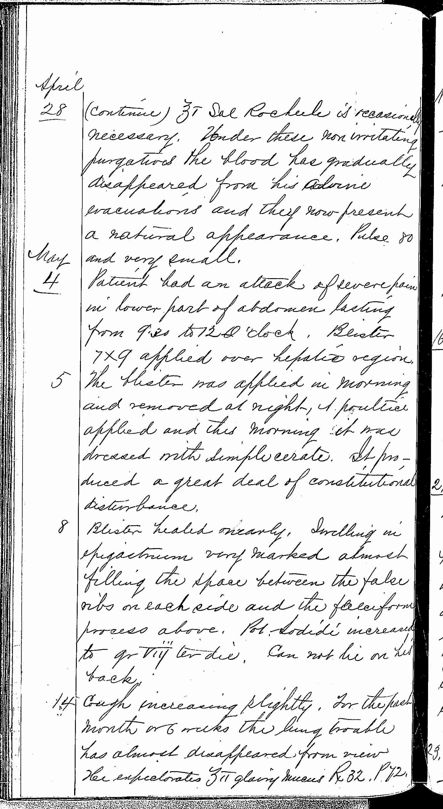 Entry for Charles Johnson (page 12 of 15) in the log Hospital Tickets and Case Papers - Naval Hospital - Washington, D.C. - 1868-69