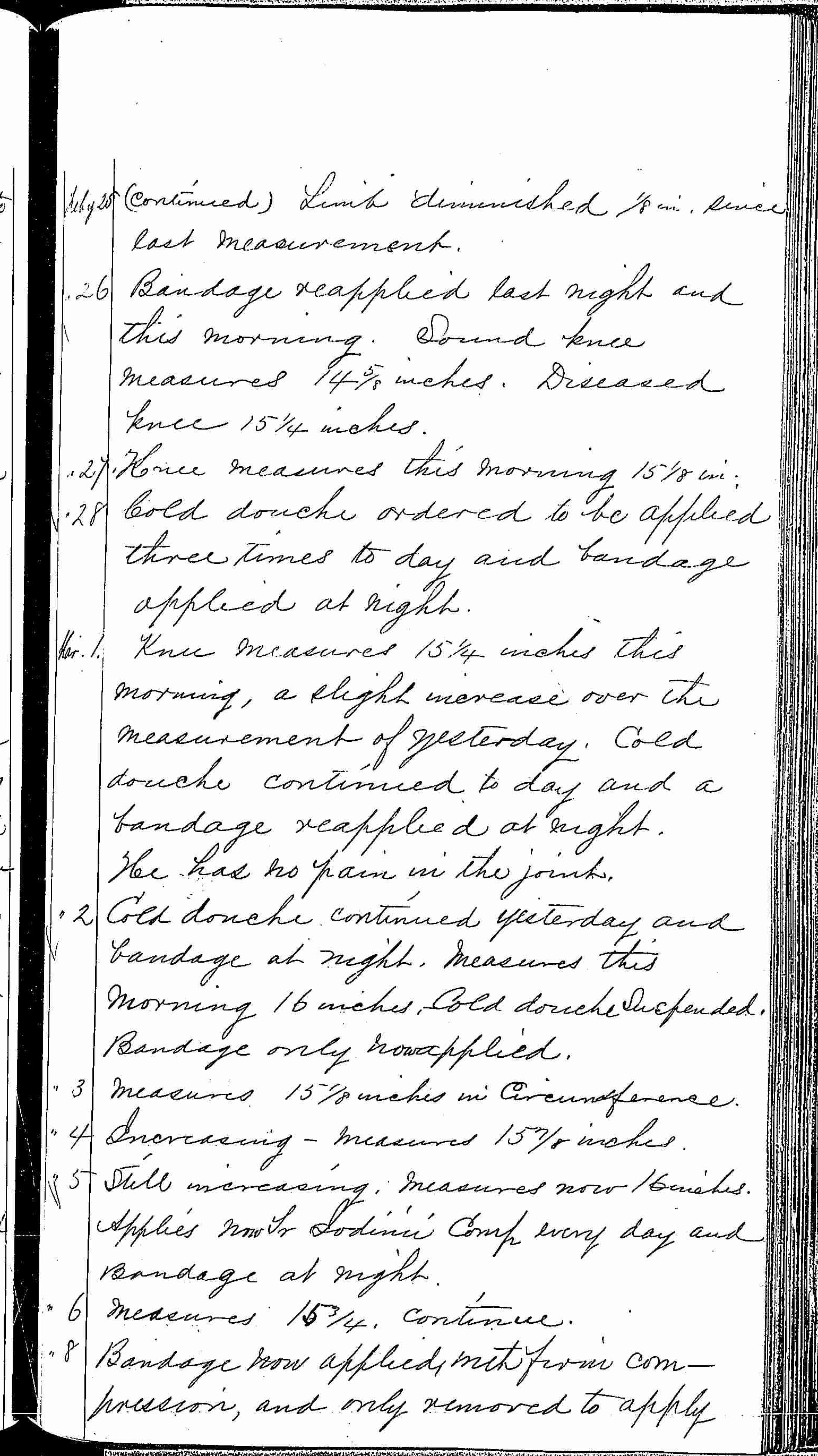 Entry for Henry James (page 3 of 8) in the log Hospital Tickets and Case Papers - Naval Hospital - Washington, D.C. - 1868-69