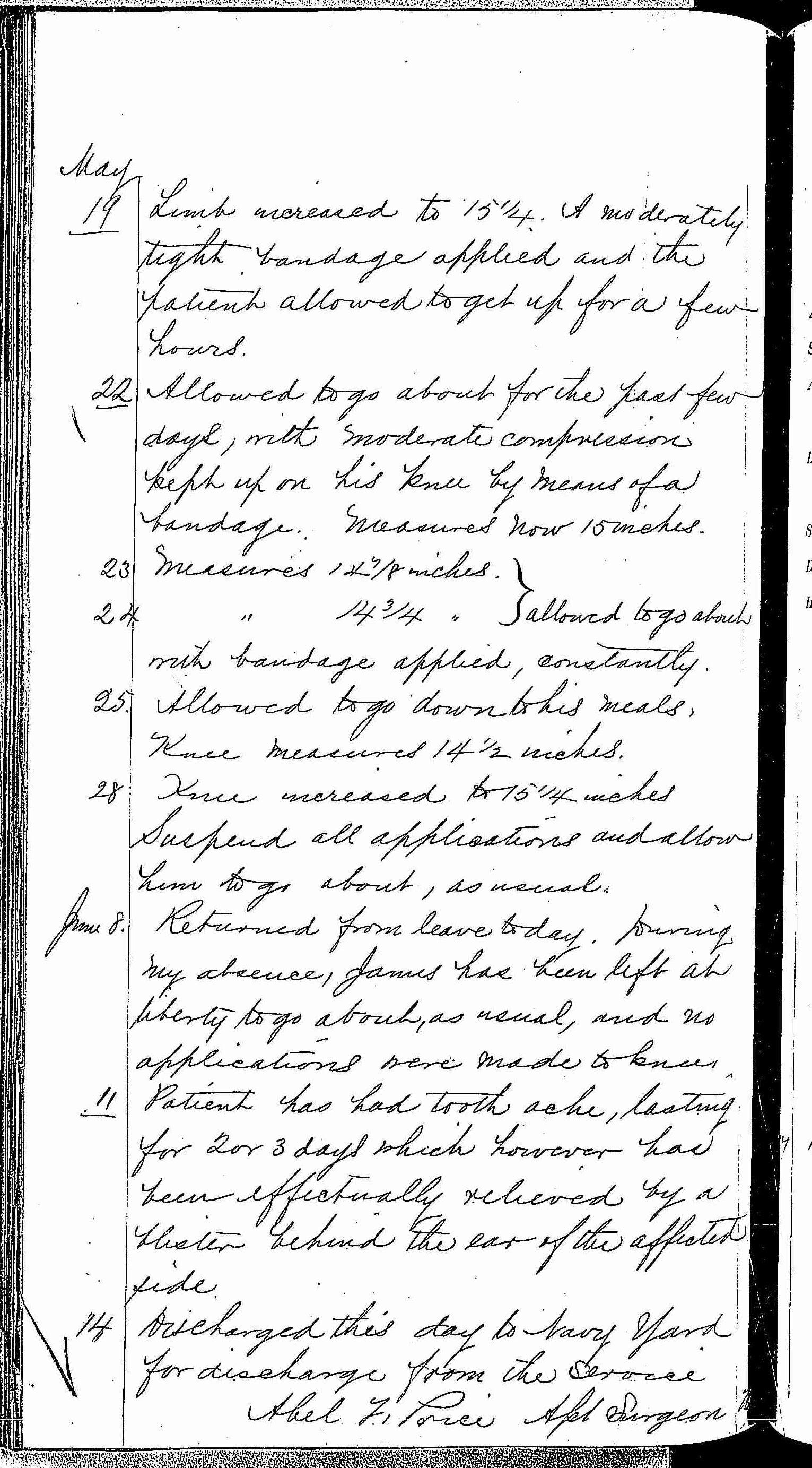 Entry for Henry James (page 8 of 8) in the log Hospital Tickets and Case Papers - Naval Hospital - Washington, D.C. - 1868-69