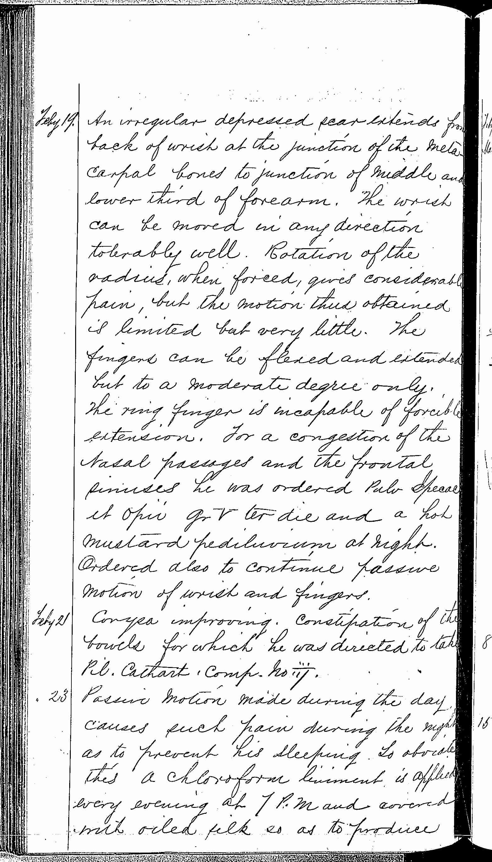 Entry for James Lockrey (page 2 of 5) in the log Hospital Tickets and Case Papers - Naval Hospital - Washington, D.C. - 1868-69