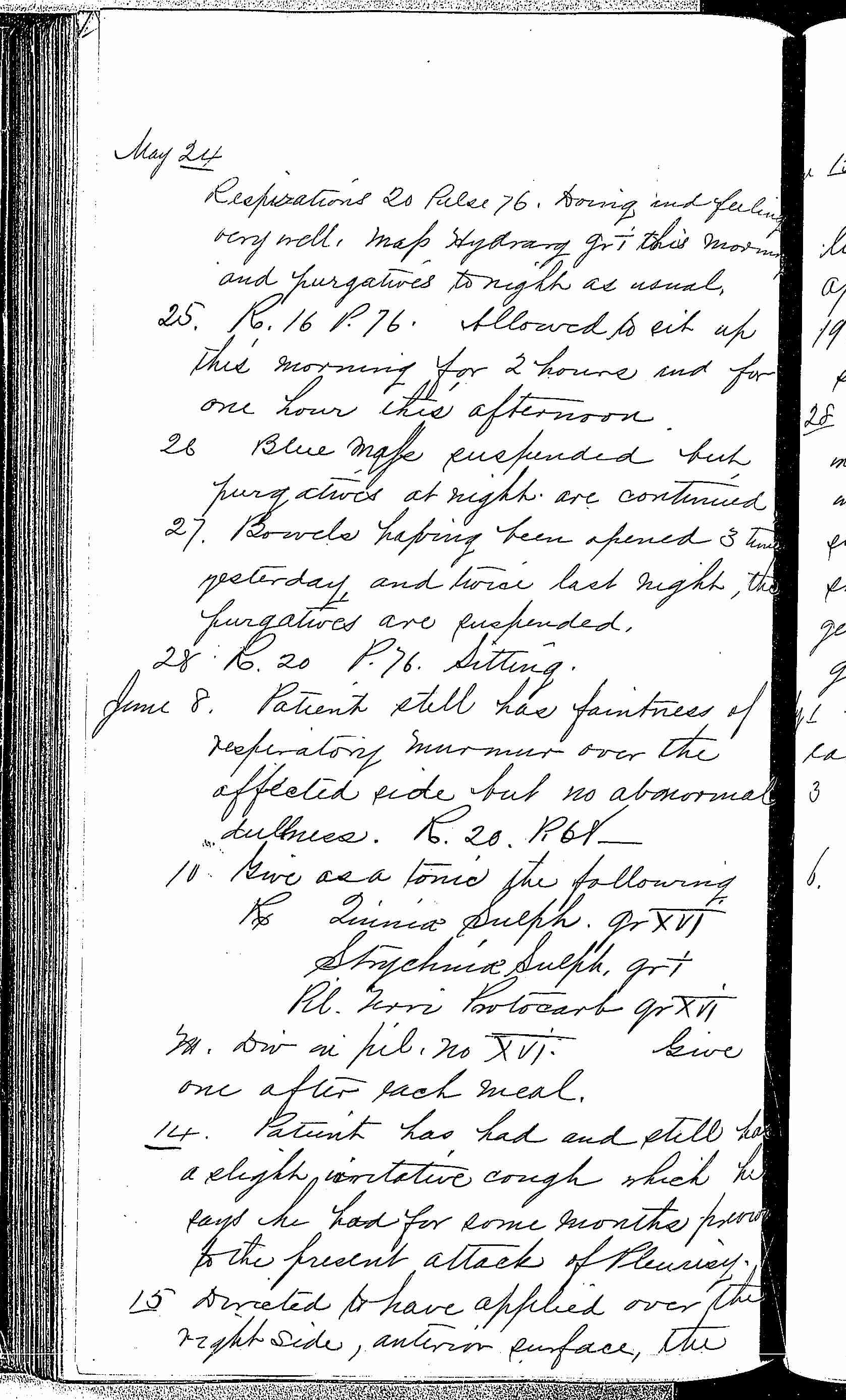 Entry for James W. Quinn (page 6 of 7) in the log Hospital Tickets and Case Papers - Naval Hospital - Washington, D.C. - 1868-69