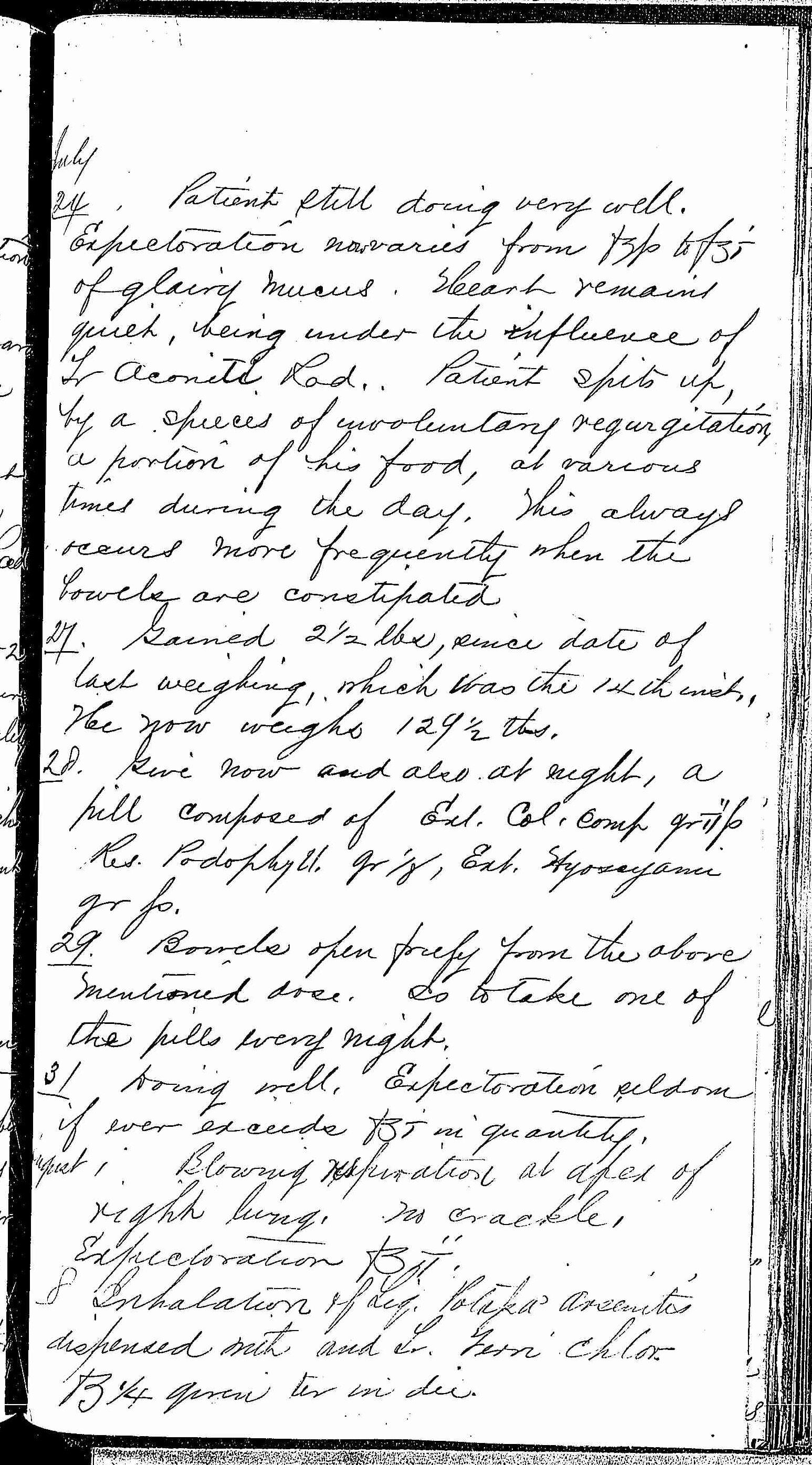 Entry for Francis Brannigan (page 5 of 6) in the log Hospital Tickets and Case Papers - Naval Hospital - Washington, D.C. - 1868-69
