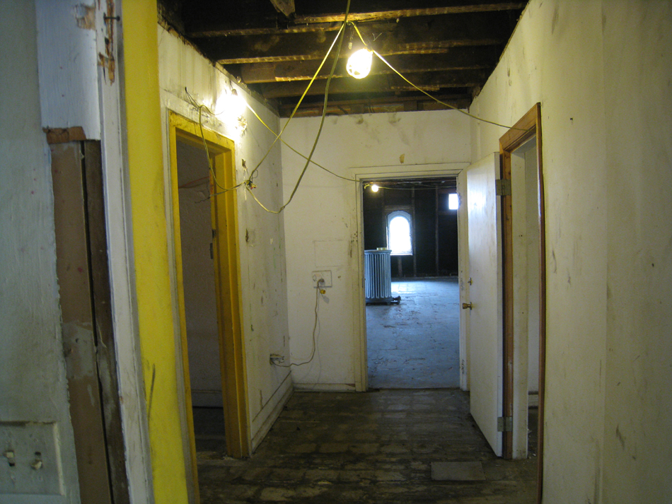 Third Floor Hall, Looking East - July 27, 2010