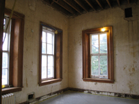 First Floor Southeast Corner (With Restored Windows) - August 3, 2010