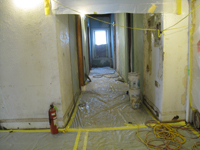 First Floor Looking West in Main Corridor - August 3, 2010