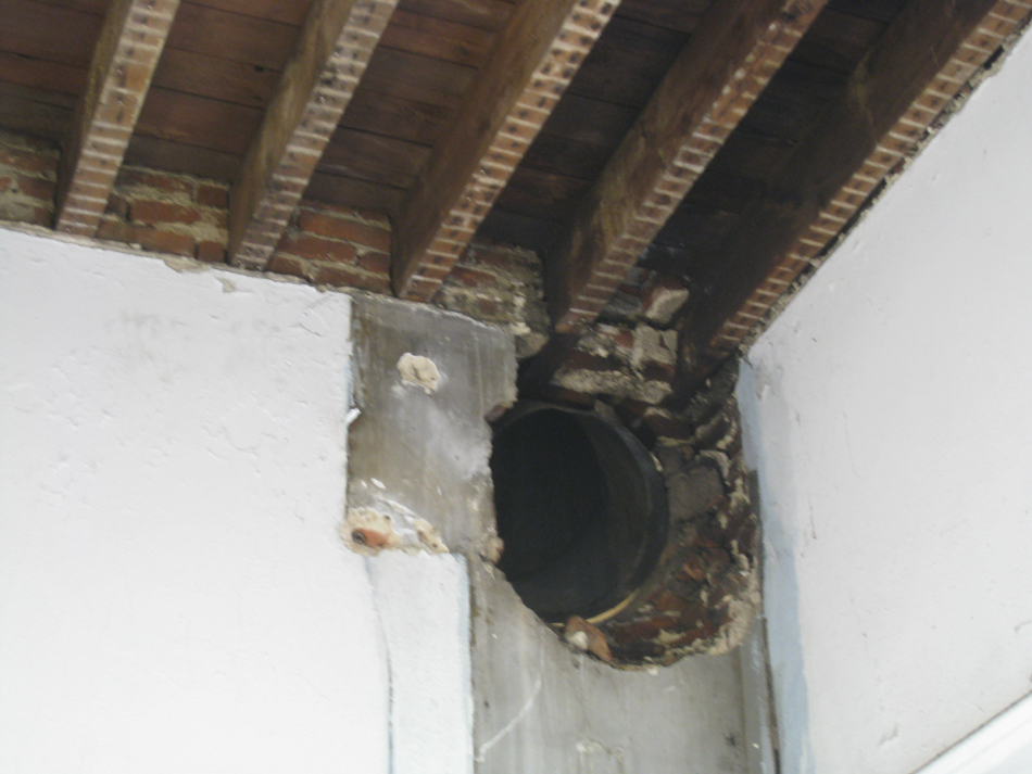Second Floor - Former Bathroom With Large Vent - August 3, 2010
