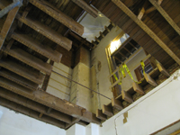 First Floor - West Stair Cut Out Looking Up - September 8, 2010
