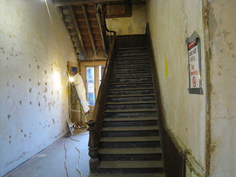 First Floor - Staircase Looking North Toward North Door - September 8, 2010