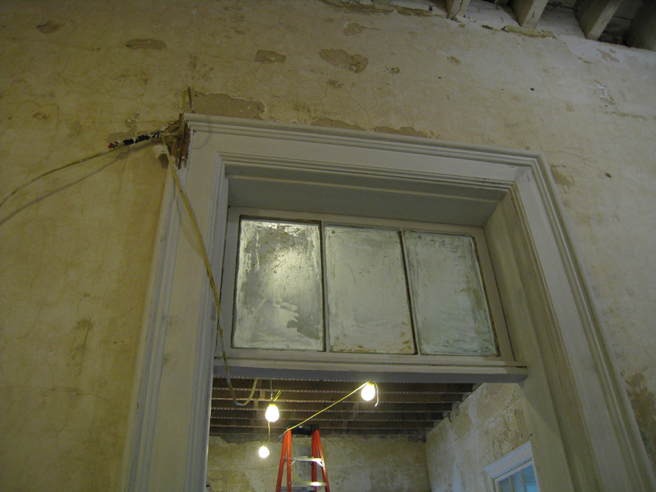 First Floor - South Corridor Transom Detail Primed