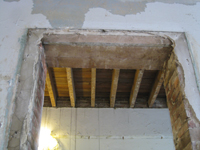 Second Floor - Central Room Door Frame Detail (Wall Proposed for Demolition) - September 17, 2010