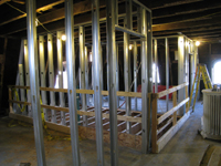 Third Floor - West Room Framing In (West Stairwell Opening) - September 17, 2010