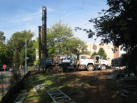 Georthermal HVAC - Drilling on Southwest Corner