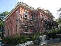 Elevation - South With Scaffolding - September 17, 2010