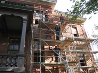 Elevation - South Detail With Scaffoldin - September 17, 2010g