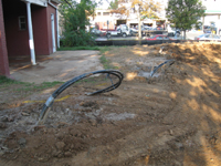 Geothermal/HVAC--Pipes sunk into 350 foot well in northwest corner - September 22, 2010