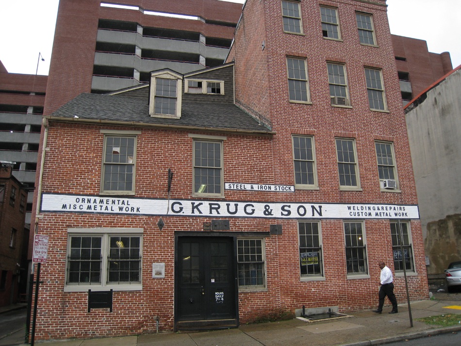 Fence - G. Krug and Son forge in Baltimore. Opened in 1810 and in the family since the Civil War.