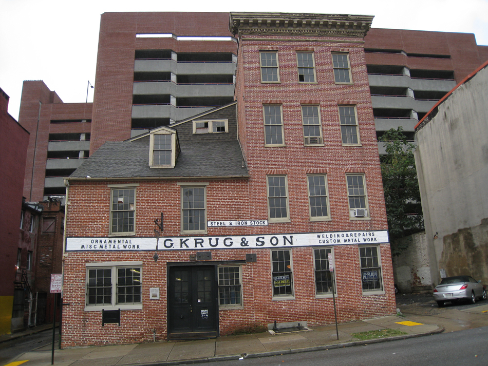 G. Krug and Son forge in Baltimore. Opened in 1810 and in the family since the Civil War