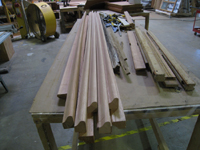 Windows and Doors - SRS Corp. -- reproducing third floor window frame elements with Spanish cedar.