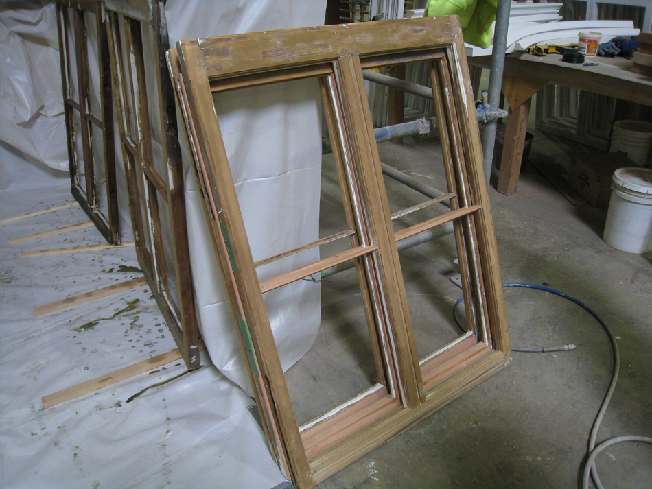Doors and Windows -- SRS Corp. -- repaired window sash (note new Spanish cedar parts).