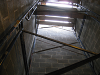 Second Floor - Elevator shaft looking up - October 11, 2010