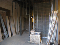 Second Floor - North west corner room with elevator shaft - October 11, 2010