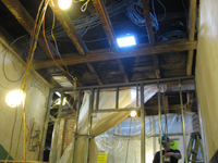 Third Floor--Electrical work and opening through to Widow's walk (from original staircase) - October 11, 2010
