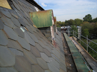 Roof - View of east Mansard roof looking north - October 11, 2010