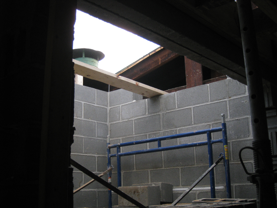 Third Floor--Elevator shaft opening in roof